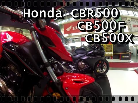 Lanzamientos Honda | CBR500R - CB500F - CB500X | Feria de las Dos Ruedas