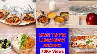 MON to FRI Lunch Box Recipes for Husband & Kids | Indian Lunch, Dinner & Lunch Box Ideas