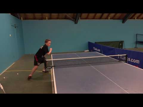 Louis Price Table Tennis Training 2017