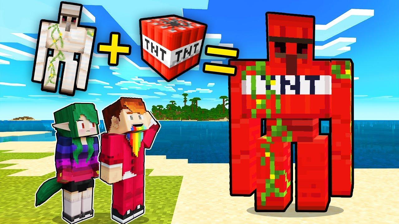 EKSPERYMENTY NA GOLEMACH! - Minecraft | CZOKO I NALI