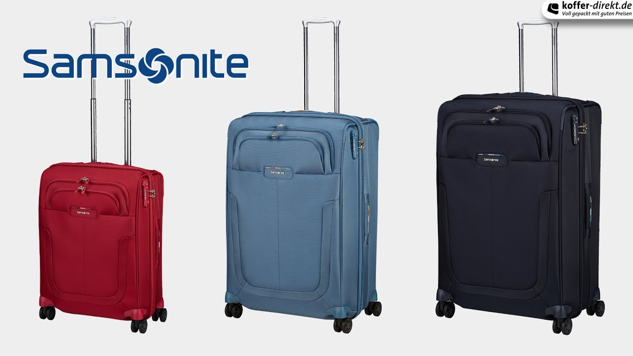 samsonite duosphere 4 rollen trolley koffer youtube. Black Bedroom Furniture Sets. Home Design Ideas