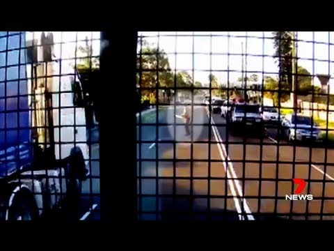 Nine + Seven News. Middle Eastern Man's Chainsaw Road Rage.(Sydney)(Multicultural Nightmare)