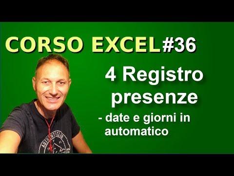 #36 Corso Excel: date e giorni in automatico   Daniele Castelletti   Associazione Maggiolina