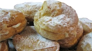 Заварные пирожные  булочки эклеры Рецепт приготовления