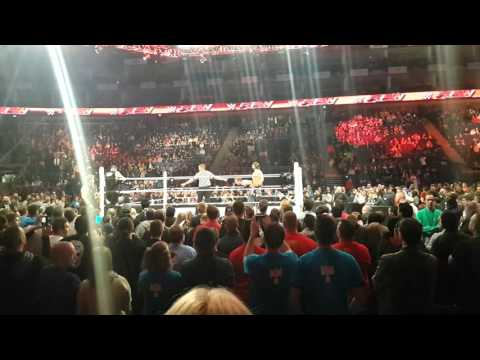 Post Monday Night Raw Off Air Fight ( AJ Styles, Dean Ambrose v Kevin Owen, Chris Jericho)