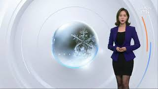 TV조선 뉴스 9 홍지화 기상캐스터 [210112]