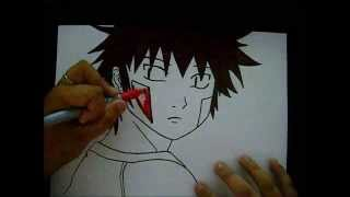 Drawing Kiba Inuzuka from Naruto