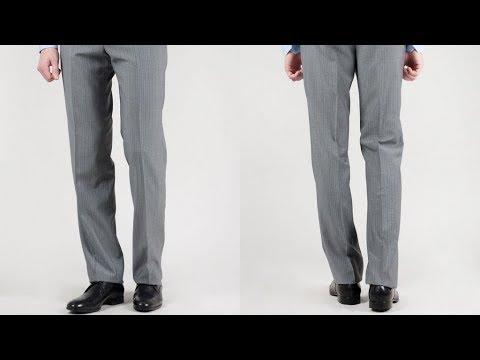 Как правильно ушить штанины на брюках