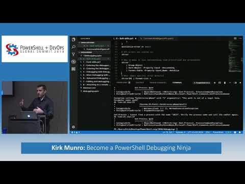 Become a PowerShell Debugging Ninja by Kirk Munro - YouTube