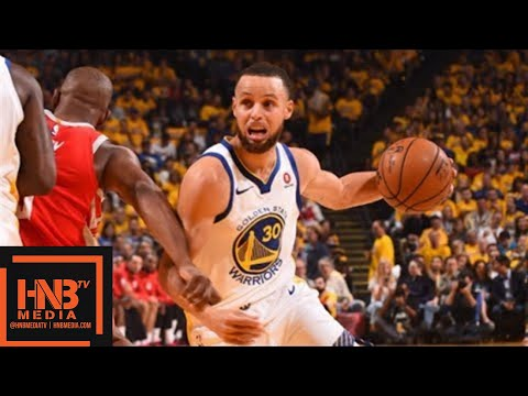 Golden State Warriors vs Houston Rockets 1st Half Highlights / Game 3 / 2018 NBA Playoffs