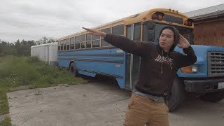 We got a bus and went drifting