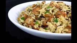 Салат из риса и маринованых грибов