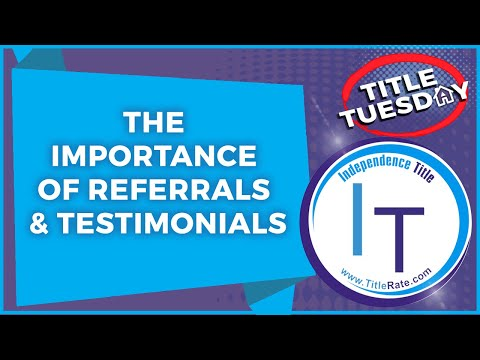Episode 72 The Importance of Referrals & Testimonials
