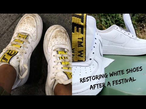 HOW TO CLEAN YOUR WHITE SHOES - FESTIVAL EDITION