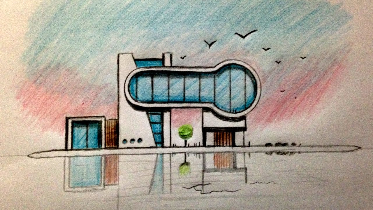 Architecture design speed drawing youtube for Home architecture you tube