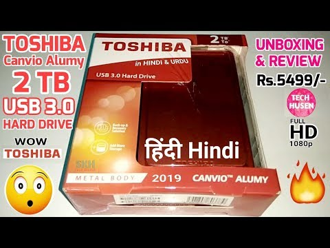 TOSHIBA Canvio Alumy 2TB USB 3.0 Hard Drive Unboxing And Review in Hindi