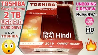 TOSHIBA Canvio Alumy 2TB USB 3 0 Hard Drive Unboxing And Review in Hindi