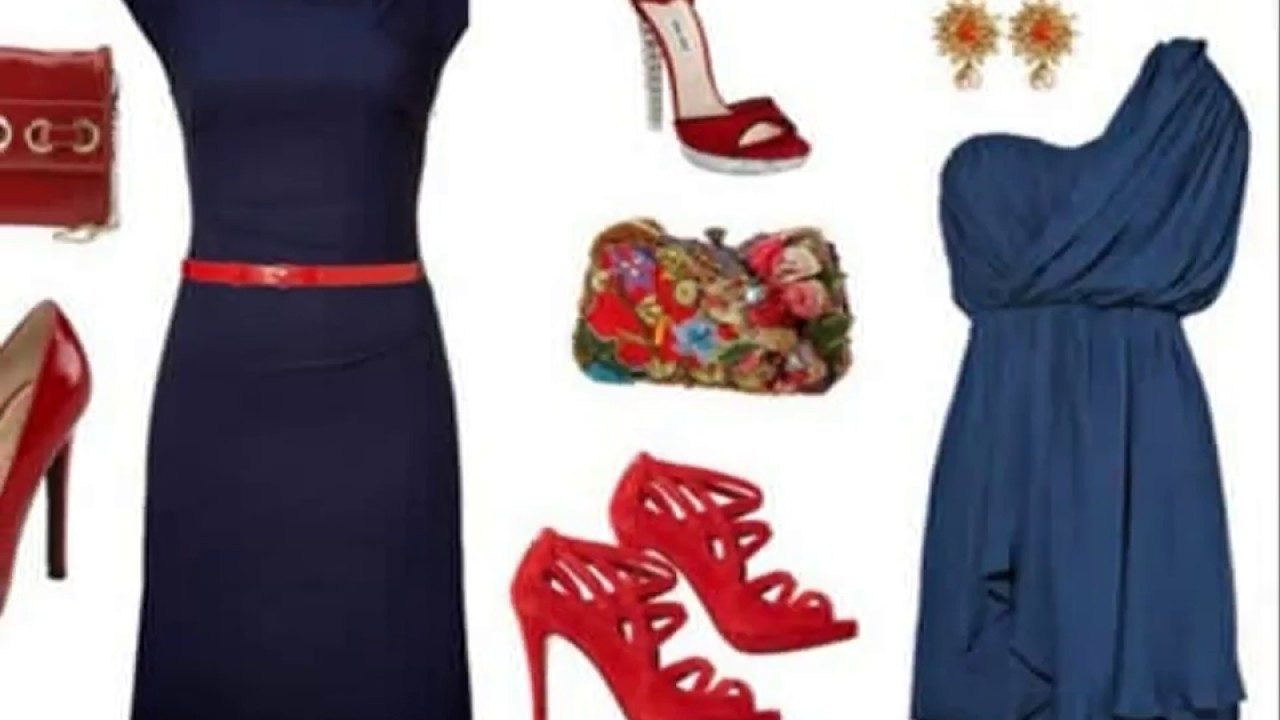 Outfits con vestidos azul marino - YouTube