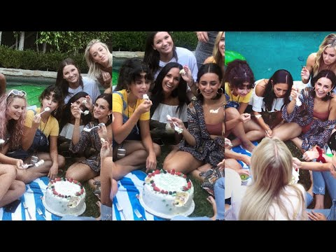Selena Gomez celebrating the birthday of her friend Courtney Barry at her home in California