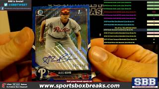 2018 Bowman Draft Super Jumbo Baseball Choose Team   Case Break #1 HIT RECAP
