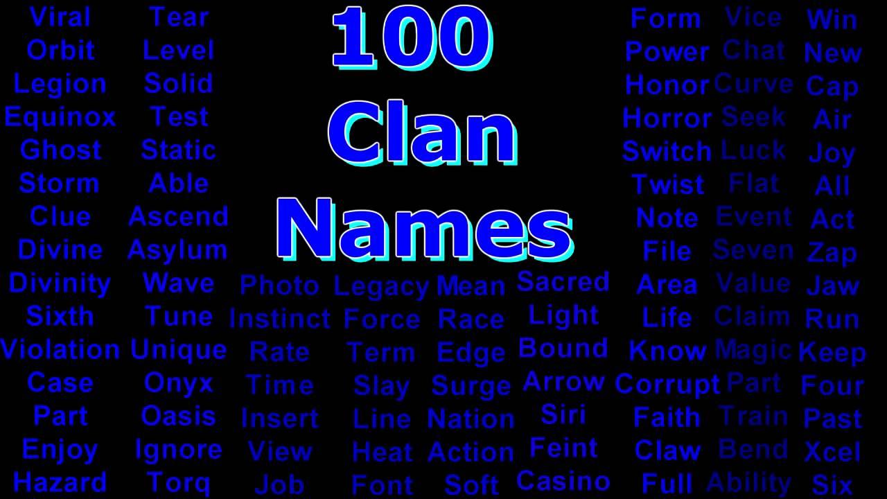 Unused gang names