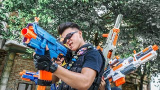Banana TV : Patrol Police Missile Squadron Nerf Guns Fight High-tech Crime One Eye Nerf War