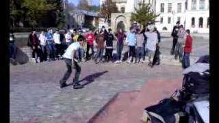 Inline agressive skating spin fails, Iasi contest