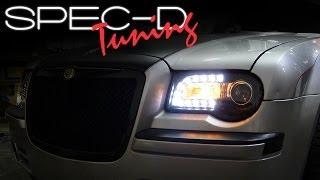 SPECDTUNING INSTALLATION VIDEO: 2005 - 2010 CHRYSLER 300C PROJECTOR LED HEADLIGHTS