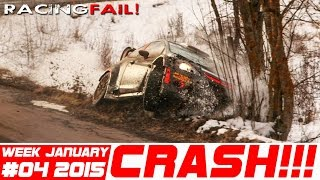 Racing and Rally Crash Compilation Week 4 January  2015