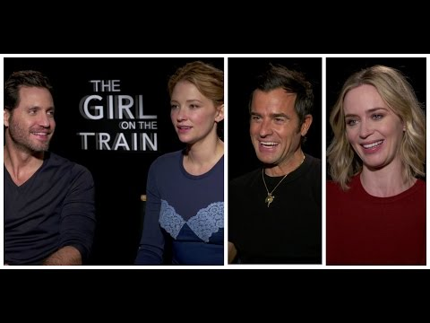 The Girl On The Train Cast on Why The Movie is Bizarrely Relatable! Emily Blunt, Justin Theroux