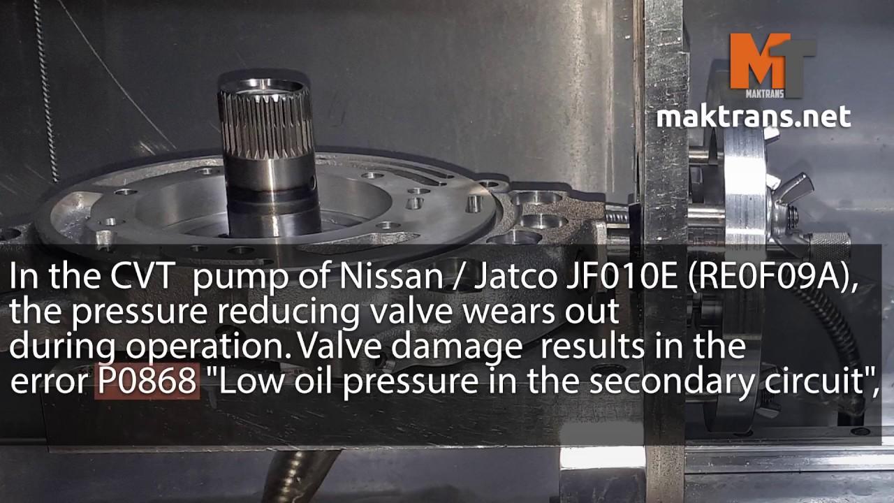[CVT oil pump valve (original size) JF010E RE0F09A 02-up]