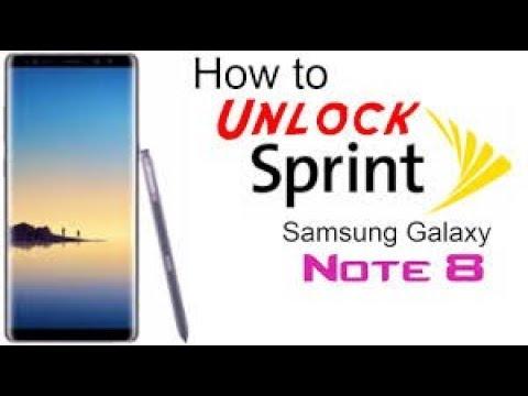 Unlock Samsung Note 8 Sprint SM-N950U - Unlock sim network Note 8 latest  security Rev 3 Z3X
