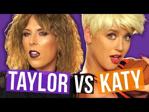 Taylor Swift & Katy Perry Halloween Makeup Transformation! (Beauty Break)