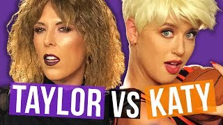 Taylor Swift & Katy Perry Halloween Makeup Transformation! (Beauty Break)