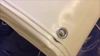 Производство тента ПВХ за 1 минуту(Как делается тент из ткани ПВХ., 2016-09-07T16:22:07.000Z)