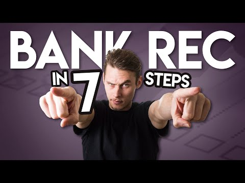 How To Do A BANK RECONCILIATION