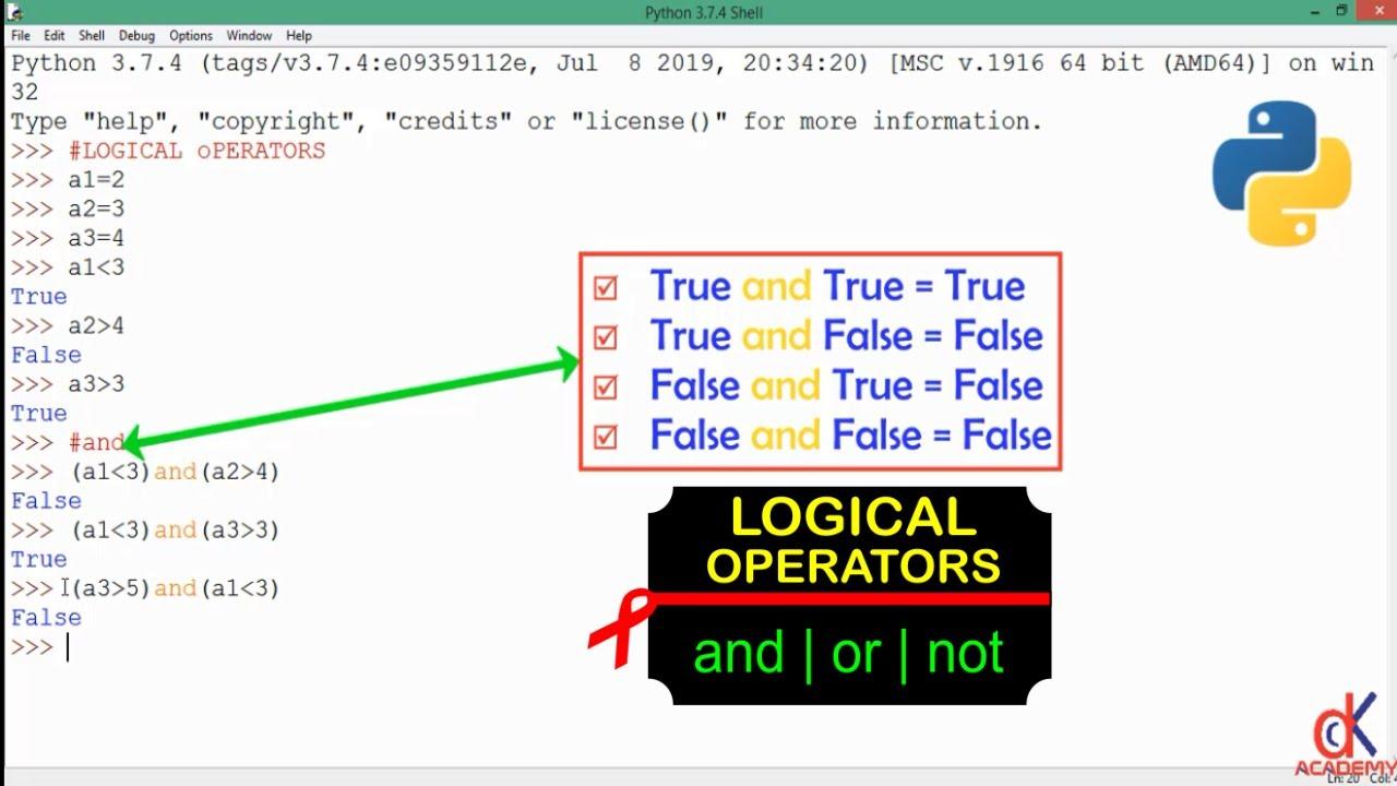 Python 20 Tutorial   Logical Operators