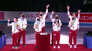 Анастасия Мишина и Александр Галлямов победили в произвольной программе на командном Чемпионате мира