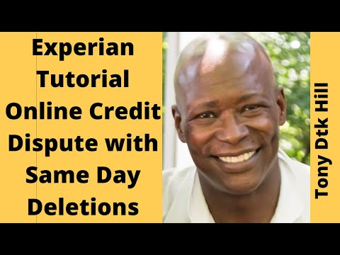 Experian Online Credit Dispute Tutorial: Some Same Day Deletions