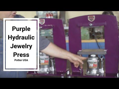New Purple Hydraulic Jewelry Press by Potter USA