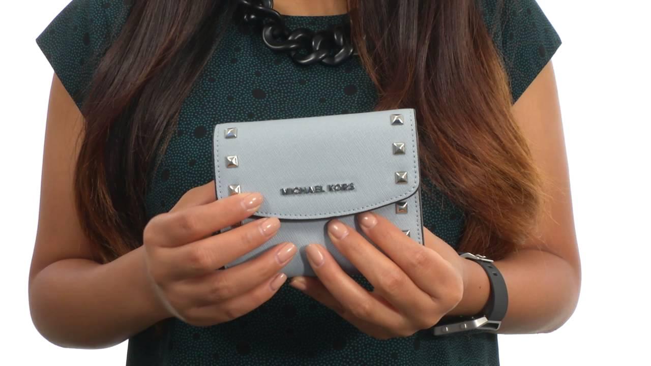 19fc1336123c MICHAEL Michael Kors Ava Stud Carryall Card Case SKU:8752404 - YouTube