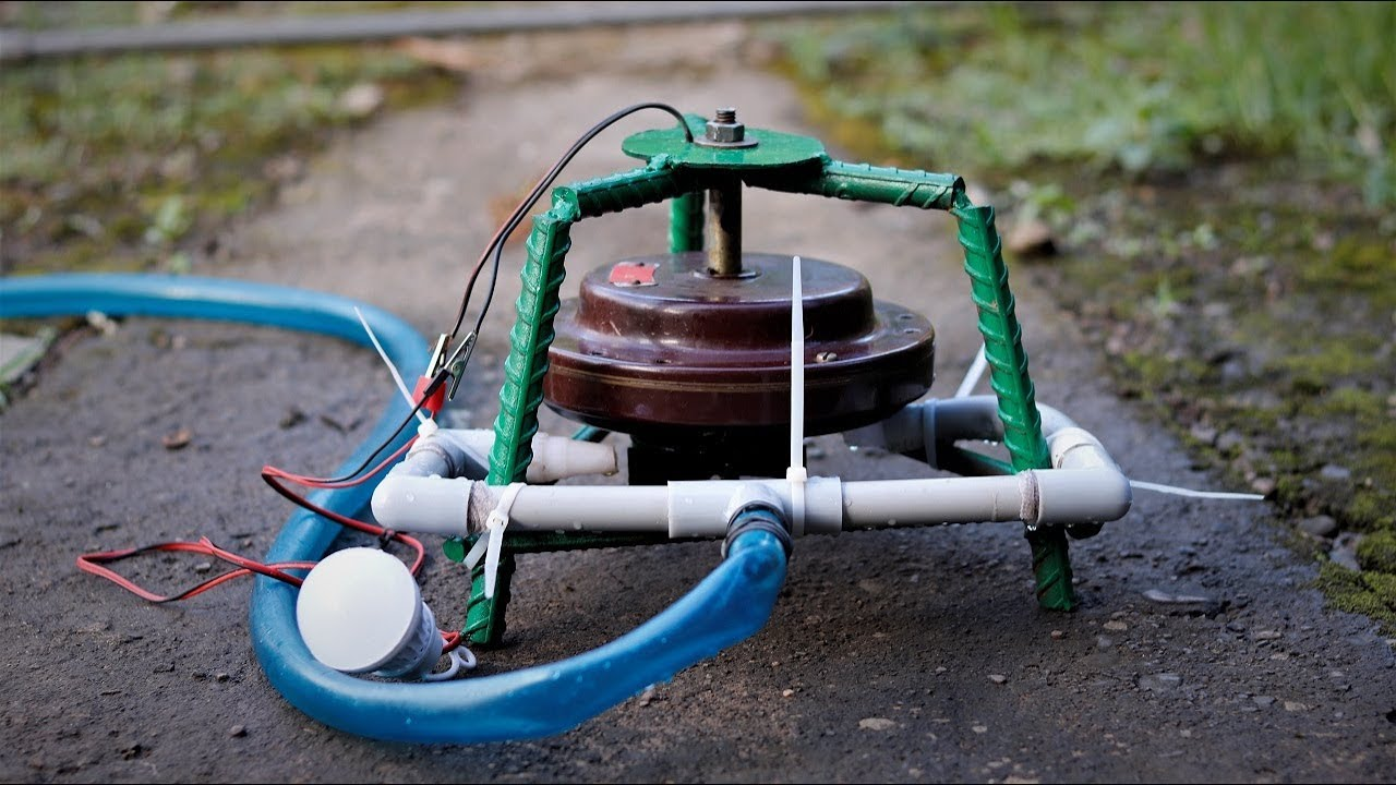 How To Make A Micro Hydro Power Plant From Ceiling Fan