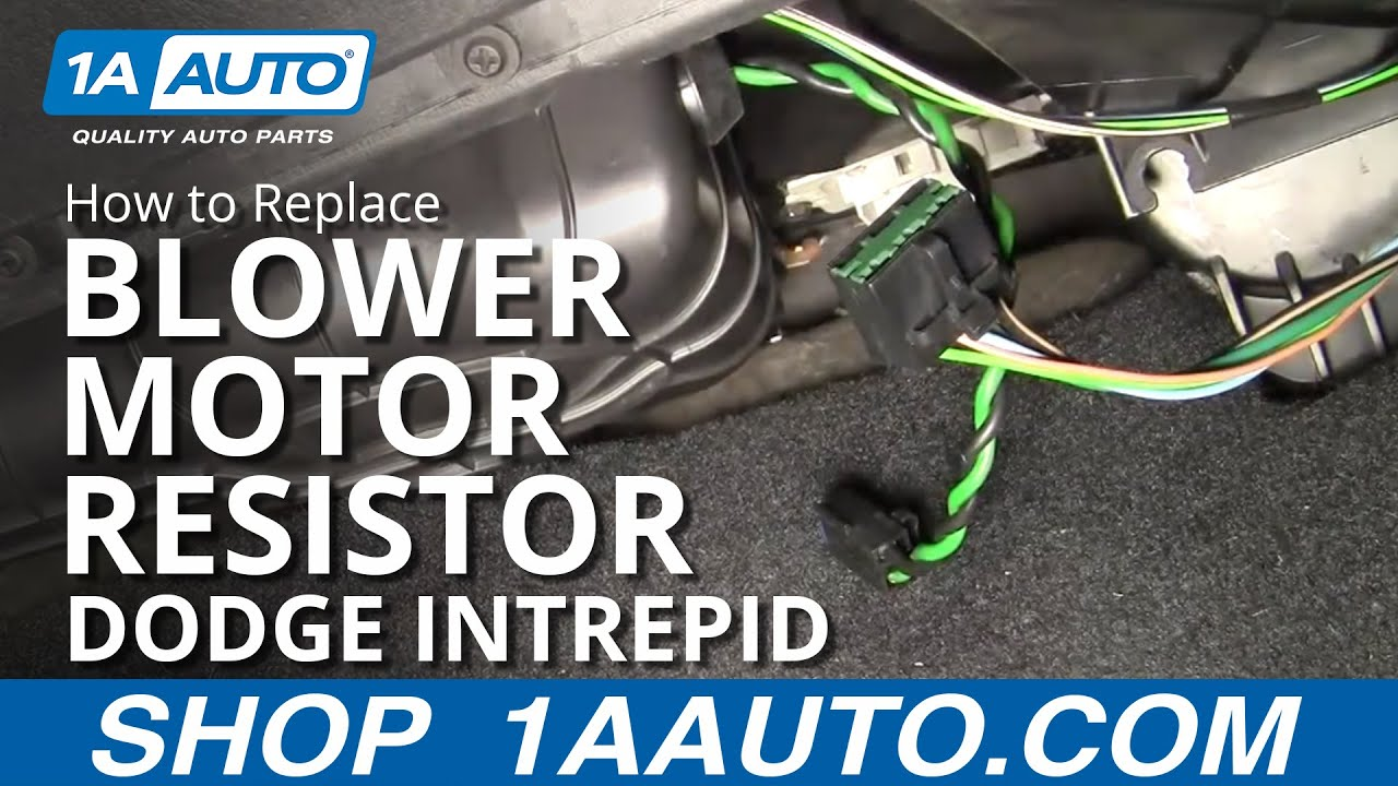 hight resolution of how to replace blower motor resistor 98 04 dodge intrepid