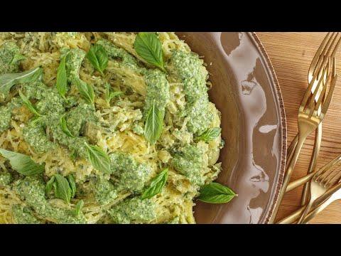 Rachael's Spaghetti Squash with Pesto alla Genovese