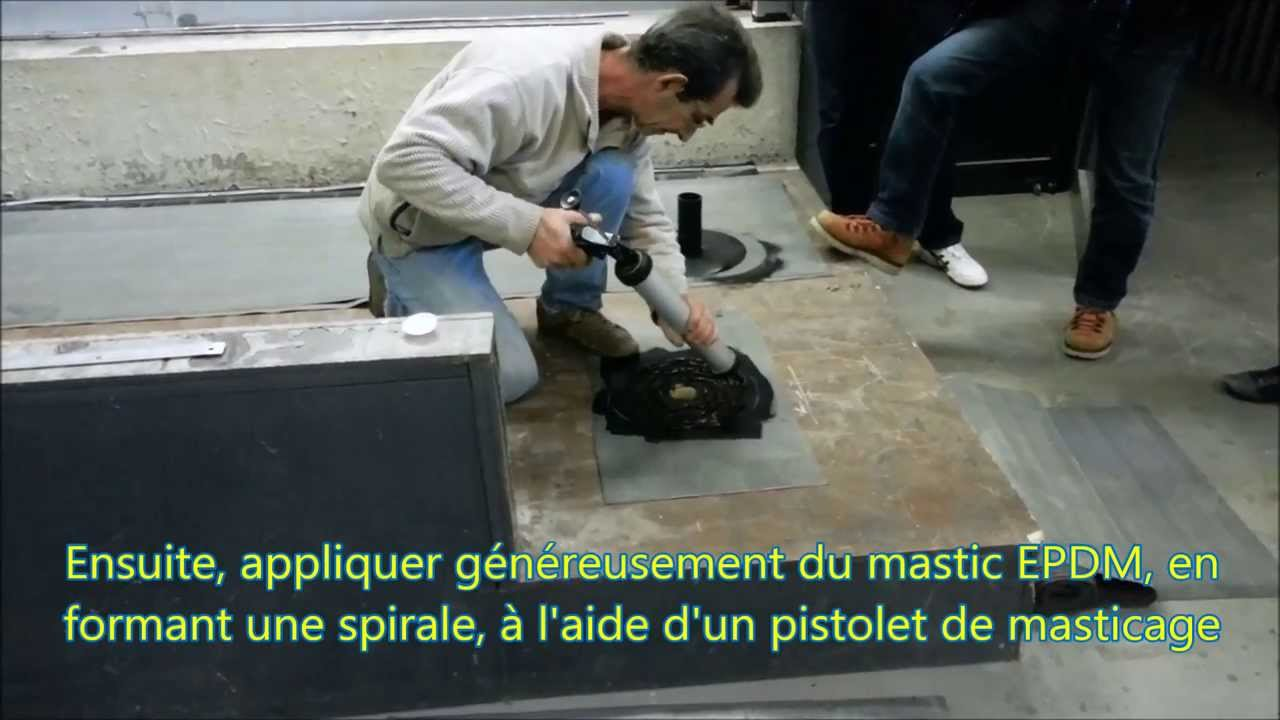 Mise En Place D Un Avaloir Epdm Youtube