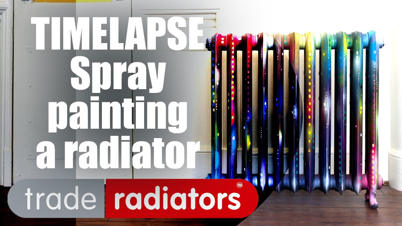 Cast Iron Paint >> Spray painting a radiator - Timelapse - YouTube