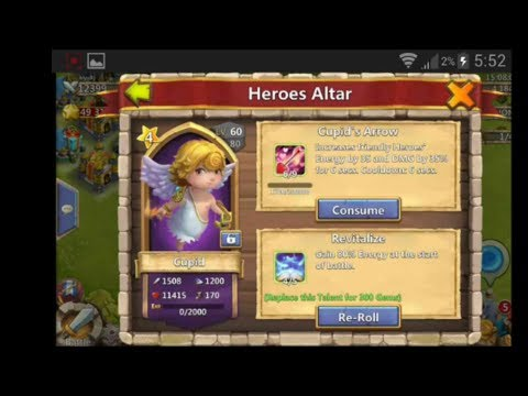 Castle Clash New Hero Cupid And Updates In Version 1.2.33