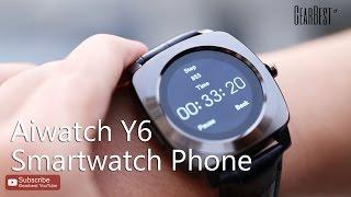 Aiwatch Y6 Smartwatch Phone  -  Gearbest.com