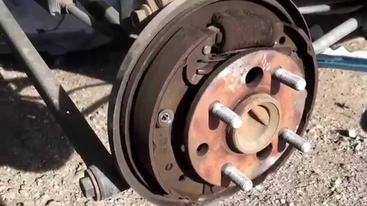 Saturn S Series Rear Brake Replacement Drum Removed Youtube Vue Tune Up