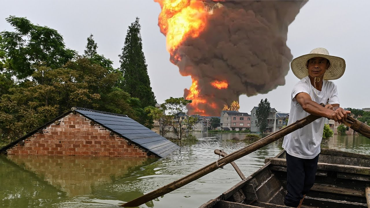 Massive Explosion at Factory Caused by Unprecedented China Floods